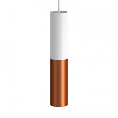 Tub-E14, tubo metálico doble para foco con portalámparas E14 de doble casquillo