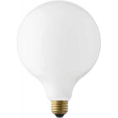 Bombilla LED Decorativa Esmerilada Blanca G125 de 8 watt dimerizable para interior y exterior - 3000K luz cálida