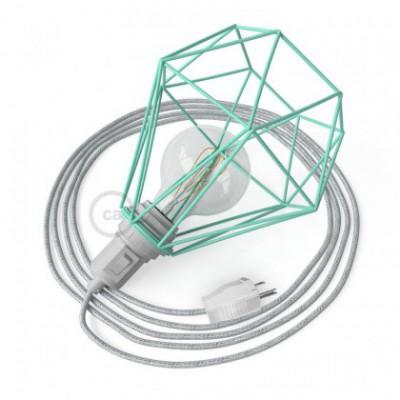 Table Snake con pantalla jaula Diamond turquesa y clavija de 2 polos
