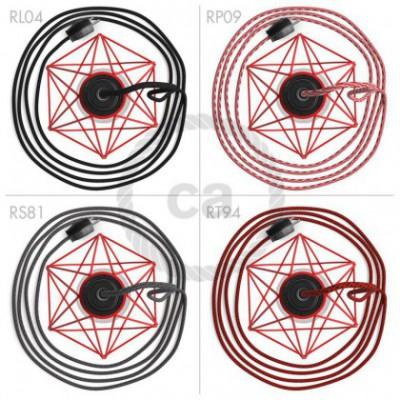 Table Snake con pantalla jaula Diamond roja y clavija de 2 polos