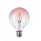 Bombillo LED globo G95 de 1watt vidrio rosa en degradé