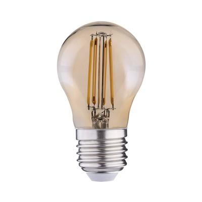 Bombilla dorada LED Globo de 45mm ping-pong G45 de filamento recto 2w luz cálida 2200K - LCO057