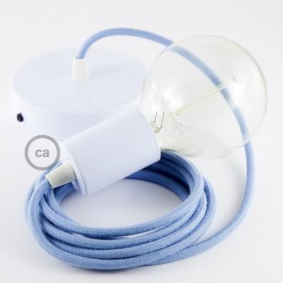 Pendel único, lámpara colgante cable textil Océano en Algodón RC53