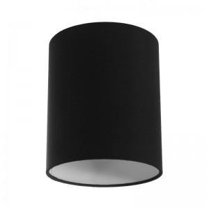Pantalla de tela Cilindro casquillo E27, diámetro 15cm H18cm - 100% Fabricado en Italia