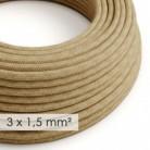 Cable electrico de sección grande 3x1,50 redondo - Jute RN06