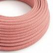 Cable Eléctrico Redondo Recubierto en tejido Efecto Seda ZigZag, Rojo RZ09