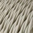 Cable Eléctrico Trenzado Recubierto en tejido Efecto Seda Color Sólido, Marfil TM00