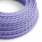 Cable Eléctrico Trenzado Recubierto en tejido Efecto Seda Color Sólido, Lila TM07
