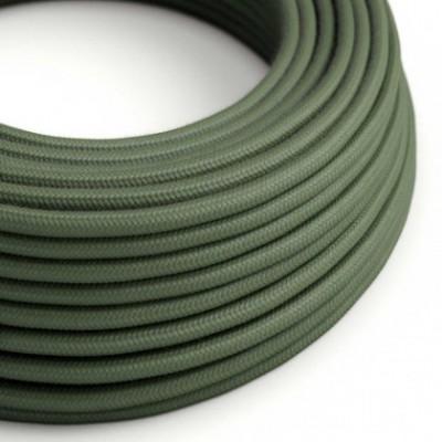 Cable Eléctrico Redondo Recubierto en Algodón Color Sólido Verde Gris RC63