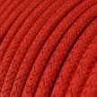 Cable Eléctrico Redondo Recubierto en tejido Efecto Seda Color Sólido, Rojo Glitter RL09