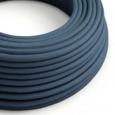 Cable Eléctrico Redondo Recubierto en Algodón Color Sólido Gris Piedra RC30