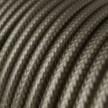 Cable Eléctrico Redondo Recubierto en tejido Efecto Seda Color Sólido, Gris Oscuro RM26