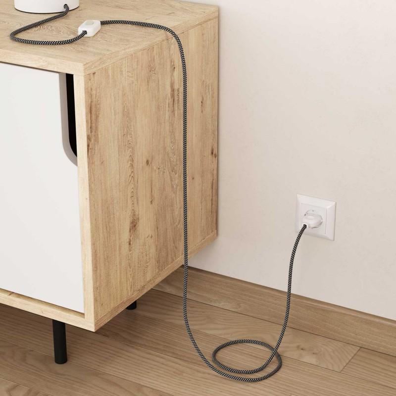 Cable eléctrico Redondo Recubierto en tejido Efecto 3D en relieve Estrellas RT41