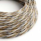 Cable Eléctrico Trenzado Recubierto de Yute, Algodón y Lino Natural TN07