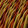 Cable Eléctrico Trenzado Recubierto en tejido Efecto Seda Orange TG04
