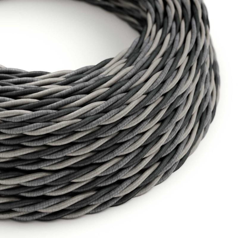 Cable Eléctrico Trenzado Recubierto en tejido Efecto Seda Orleans TG07