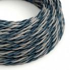 Cable Eléctrico Trenzado Recubierto en tejido Efecto Seda Bernadotte TG08