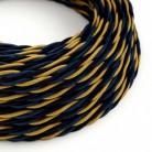Cable Eléctrico Trenzado Recubierto en tejido Efecto Seda Savoia TG09