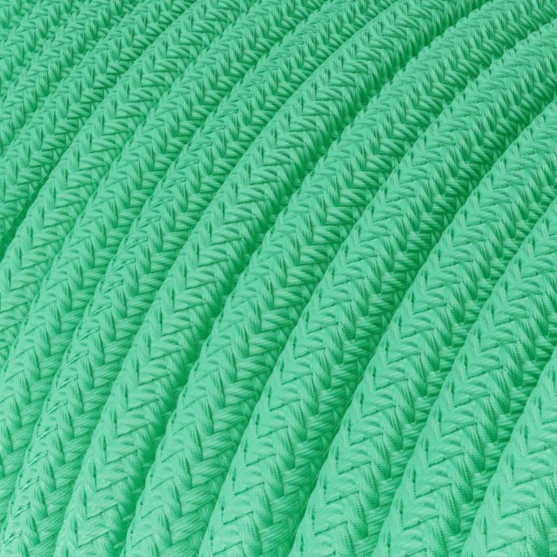 Cable Eléctrico Redondo recubierto en tejido efecto Seda Color Sólido Ópalo RH69