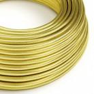 Cable Eléctrico Redondo recubierto de cobre 100% Acabado Oro