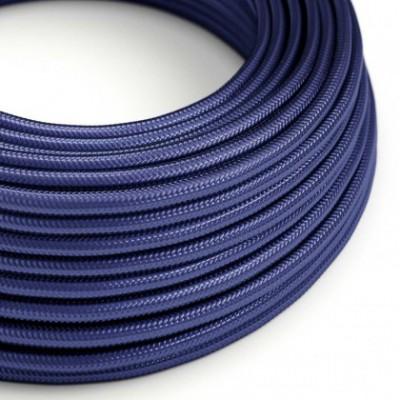 Cable Eléctrico Redondo recubierto en tejido de Rayón Color Sólido Zafiro RM34
