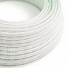 Cable Eléctrico Redondo recubierto en tejido de Rayón Color Sólido, Glitter Unicorn RL00