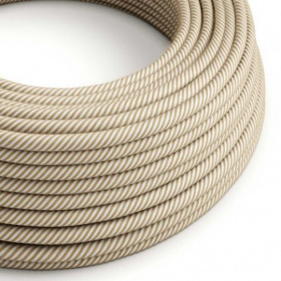 Cable Eléctrico Redondo Vértigo recubierto en Yute Hawser y Algodón ERN07