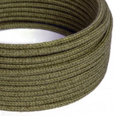 Cable Eléctrico Redondo Recubierto en Yute Color Marrón Corteza RN26