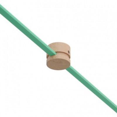 Pasacables de madera Filé System para cable textil guirnalda. Fabricado en Italia