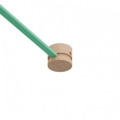 Pieza final de remate en madera Filé System para cable textil guirnalda. Fabricado en Italia